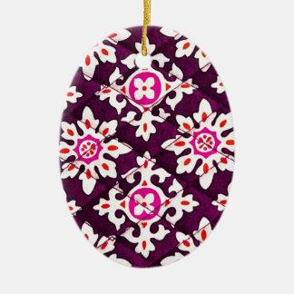 Pink Floral Design Art Glow Gradient Digital Art L Christmas Ornaments