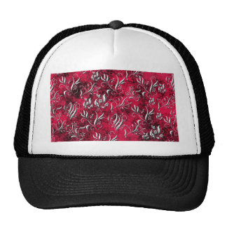 Pink Floral Design Art Glow Gradient Digital Art L Mesh Hat