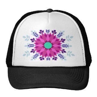 Pink Floral Design Art Glow Gradient Digital Art L Hats
