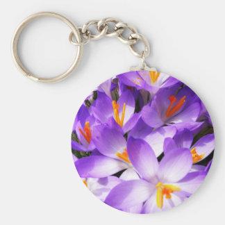 Pink Floral Design Art Glow Gradient Digital Art L Basic Round Button Key Ring