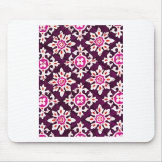 Pink Floral Design Art Glow Gradient Digital Art L Mousepad