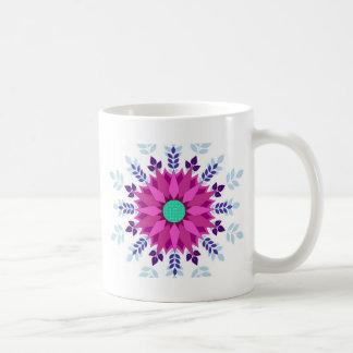 Pink Floral Design Art Glow Gradient Digital Art L Coffee Mugs