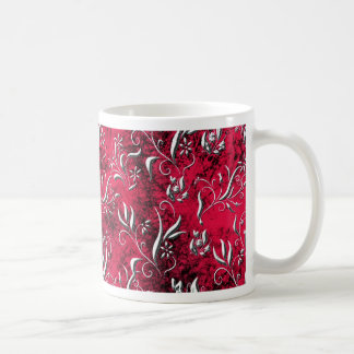Pink Floral Design Art Glow Gradient Digital Art L Mug