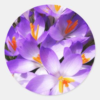 Pink Floral Design Art Glow Gradient Digital Art L Round Sticker