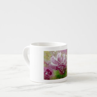 Pink floral espress cup