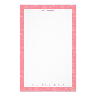 Pink Floral for Breast Cancer Awareness Personalised Stationery