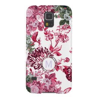 Pink Floral Garden Monogram Case For Galaxy S5