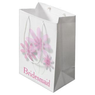Pink Floral Gift Bag (Customisable)