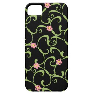 Pink Floral Green Vines iPhone 5 Cover