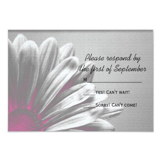 Pink Floral Highlights Wedding RSVP Response Card