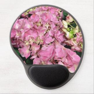 Pink Floral Hydrangea Flower Gel Mouse Mat