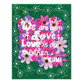 Pink Floral Inspiring Typography Quote Photograph