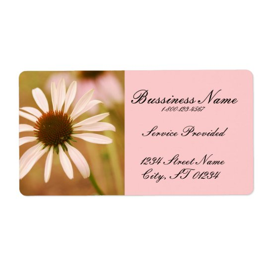 Pink Floral Label
