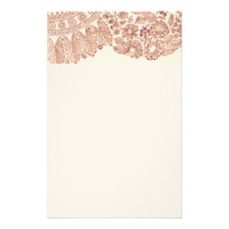 Pink Floral Lace With Roses Customised Stationery