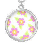 Pink floral leaves jewelry