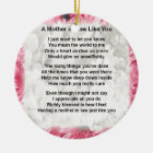 Pink Floral -  Mother in Law Poem Ceramic Ornament