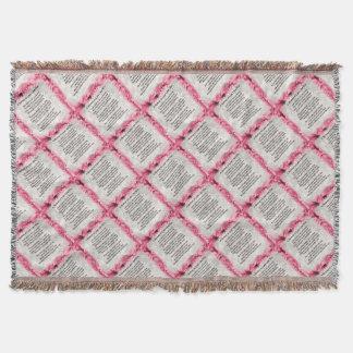 Pink Floral -  Mother in Law Poem Throw Blanket