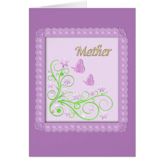 Pink Floral Mothers Day Card