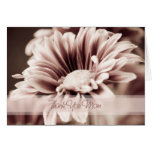 Pink Floral Mum Wedding Day Thank You Card