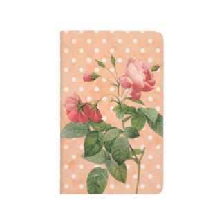 Pink floral notebook vintage rustic