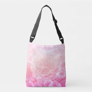 Pink Floral Ombré Crossbody Bag