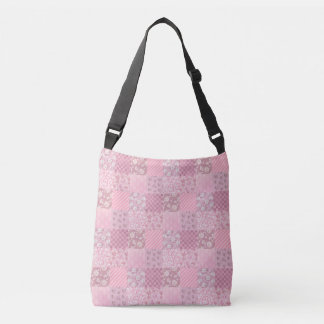 Pink Floral Patchwork Cross Body Bag
