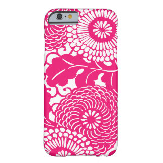 Pink floral pattern barely there iPhone 6 case