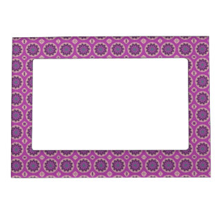 Pink Floral Pattern Magnetic Picture Frame