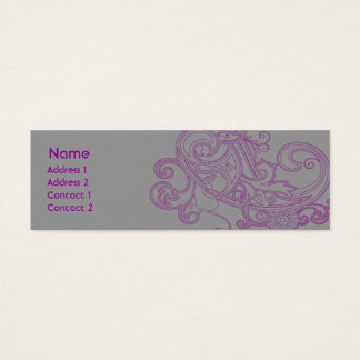 Pink Floral Pattern - Skinny Mini Business Card