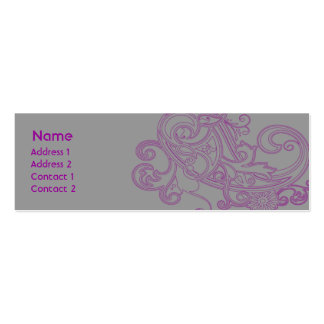 Pink Floral Pattern - Skinny Pack Of Skinny Business Cards