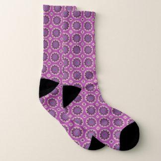 Pink Floral Pattern Socks