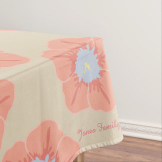 Pink Floral Personalize Tablecloth