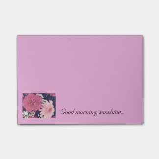 Pink Floral Post-It-Notes 4x3 inch Post-it Notes
