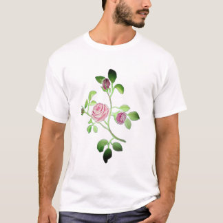 Pink Floral Rose Vine accent T-Shirt