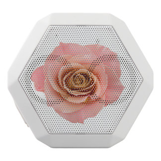 Pink Floral Rose White Bluetooth Speaker