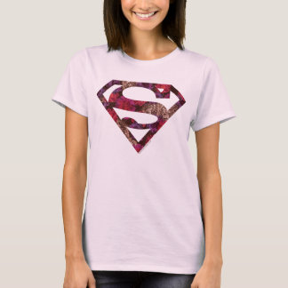 Pink Floral S-Shield T-Shirt