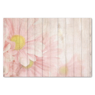 Pink Floral Scene Tissue Paper