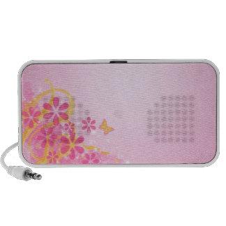 Pink Floral Speakers