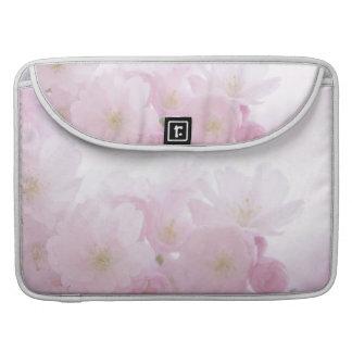 Pink Floral Springtime Flowers Macbook Pro Sleeve