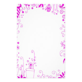 Pink Floral Stationary Stationery