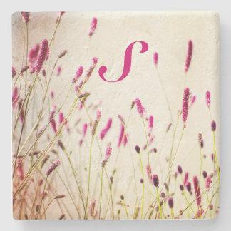 Pink Floral Stone Coaster Stone Coaster