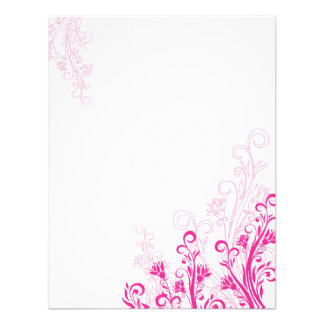 Pink Floral Swirl (blank) Invite