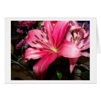 Pink Floral, Thank You Card