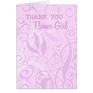 Pink Floral Thank You Flower Girl Card