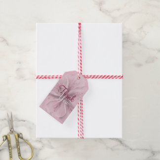 Pink Floral Thank You Gift Tags