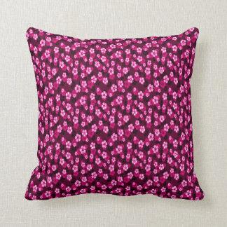 pink floral throw pillow