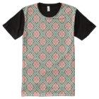 Pink Floral Trellis Vintage Flower Pattern All-Over Print T-Shirt