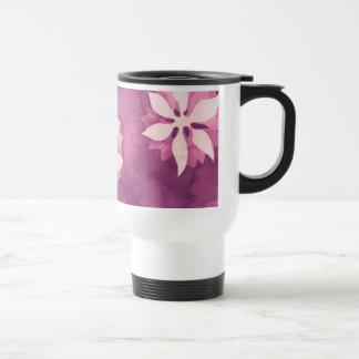 Pink floral watercolor mugs