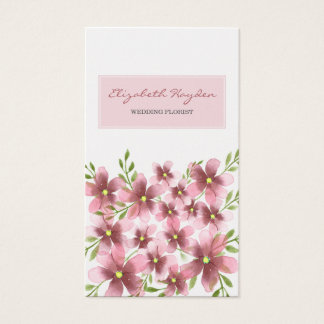 Pink Floral wedding florist Business Cards