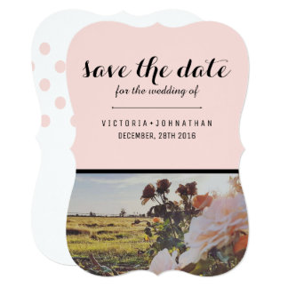 Pink Floral Wedding Invitation Set - Chic - Floral